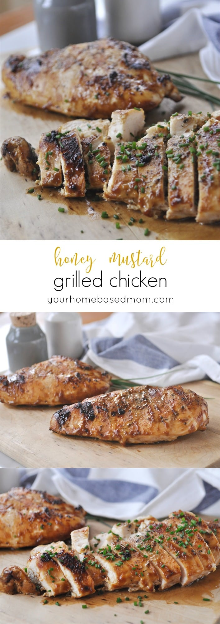 Honey Mustard Grilled Chicken @yourhomebasedmom.com