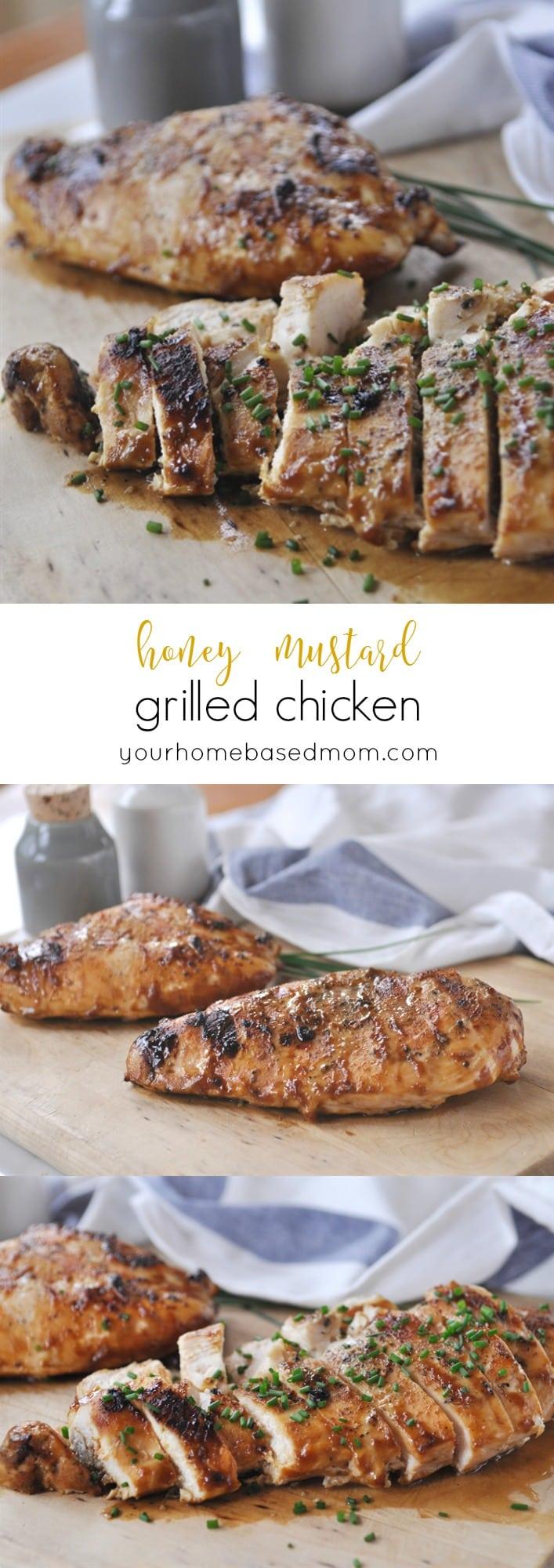 Honey Mustard Grilled Chicken @yourhomebasedmom.com