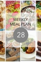 This Week for Dinner}Weekly Meal Plan #28