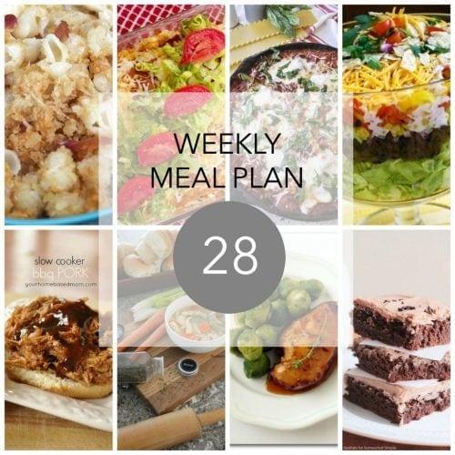 This Week for Dinner}Weekly Meal Plan #28