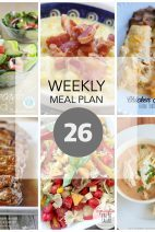 This Week for Dinner}Weekly Meal Plan #26