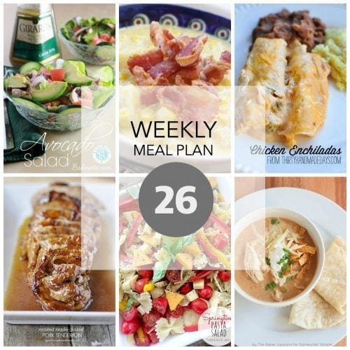 This Week for Dinner}Weekly Meal Plan #26