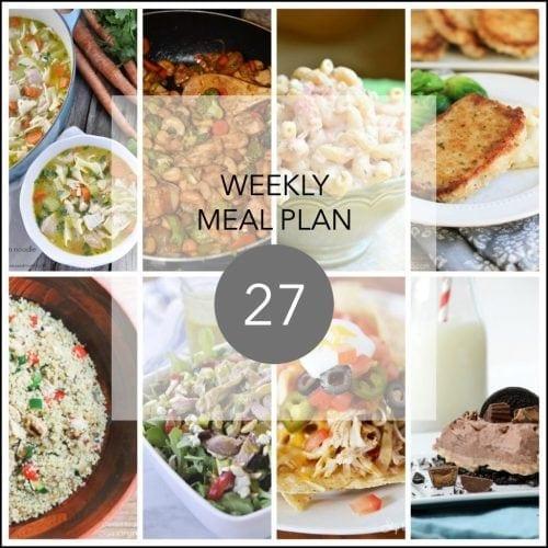 This Week for Dinner}Weekly Meal Plan #27