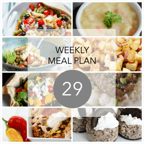 This Week for Dinner}Meal Plan #29