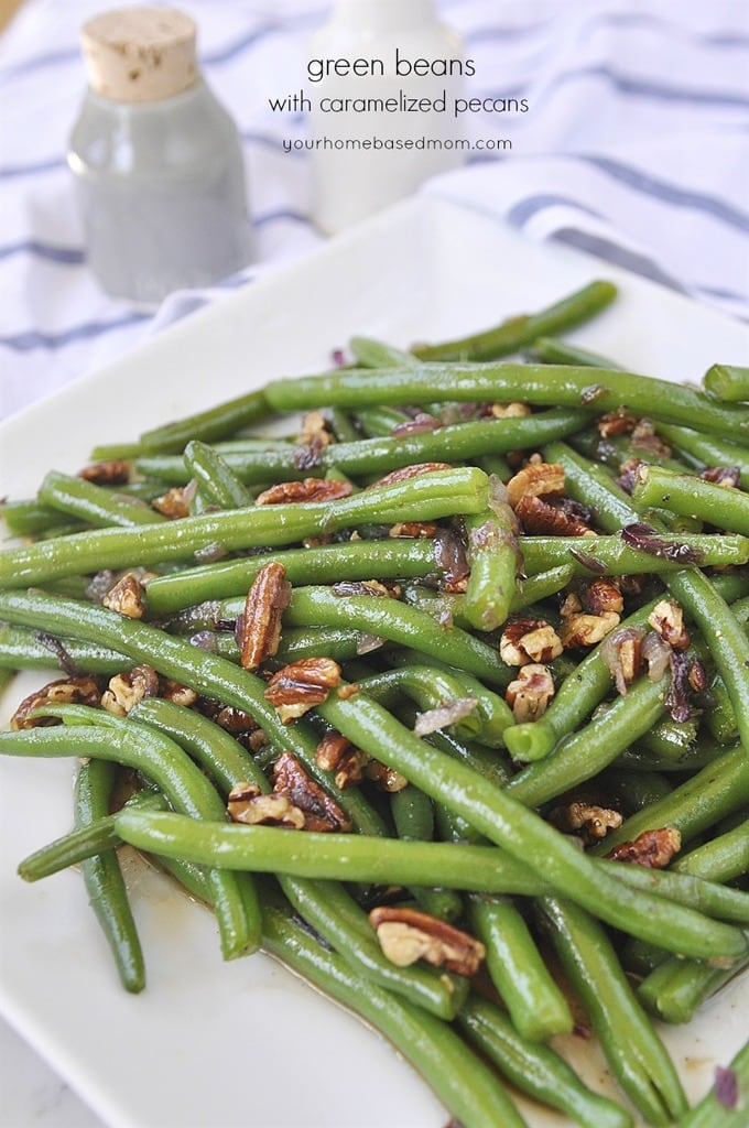 Green Beans with Caramelized Pecans - your homebased mom