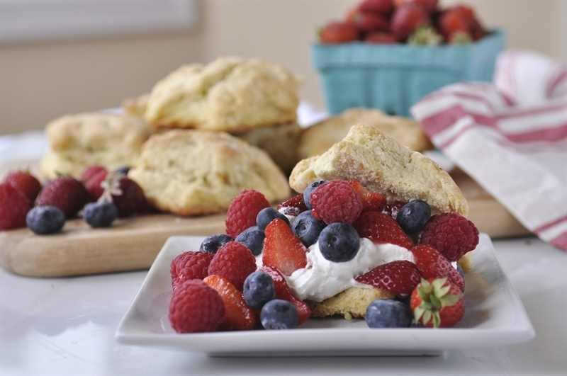 Lemon Berry Shortcakes with Lemon Cream