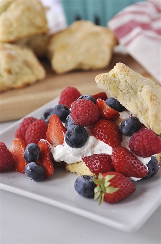 patriotic berry shortcakes