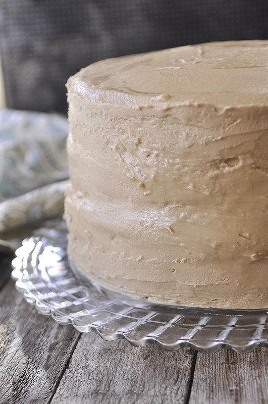 Frosted Caramel Cake