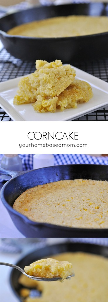 Better than birthday cake is how my eight year old neighbor described this corncake!