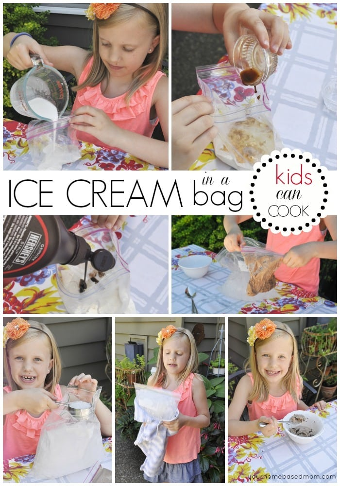 how to make ice cream in a bag - your homebased mom