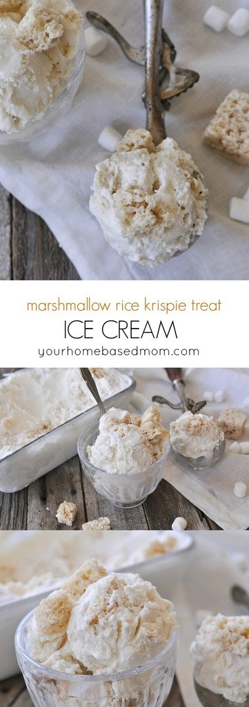 I first discovered marshmallow rice krispie treat ice cream in New York and fell in love with the concept. They didn't actually even have the ice cream the night I was there but it was one of their flavors they usually offered. I just couldn't get the idea out of my head so I decided to try my hand at it at home.