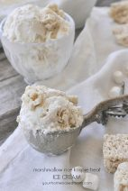 Marshmallow Rice Krispie Treat Ice Cream