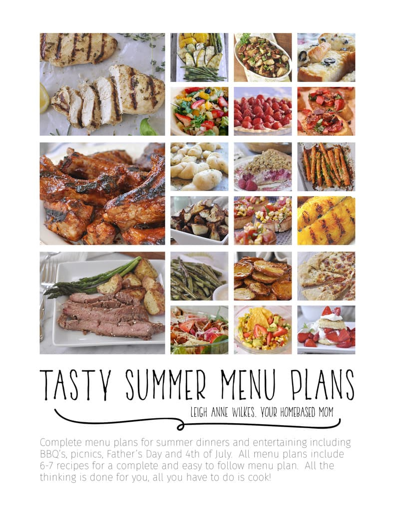 Menu Planning Ebook Cover