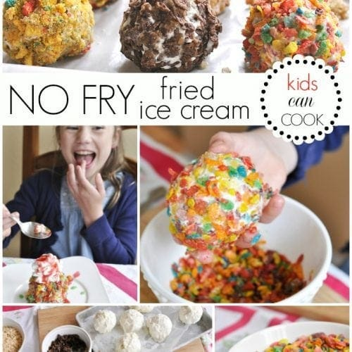 No Fry Fried Ice Cream}Kids Can Cook