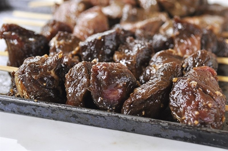 beef marinated in teriyaki marinade