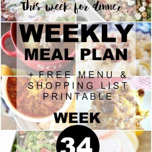 Summer Menu Plans and Weekly Meal Plan #34