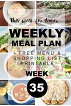 What's For Dinner}Weekly Meal Plan #35
