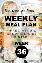 This Week for Dinner}Weekly  Meal Plan #36