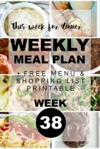 This Week for Dinner}Weekly Meal Plan #38