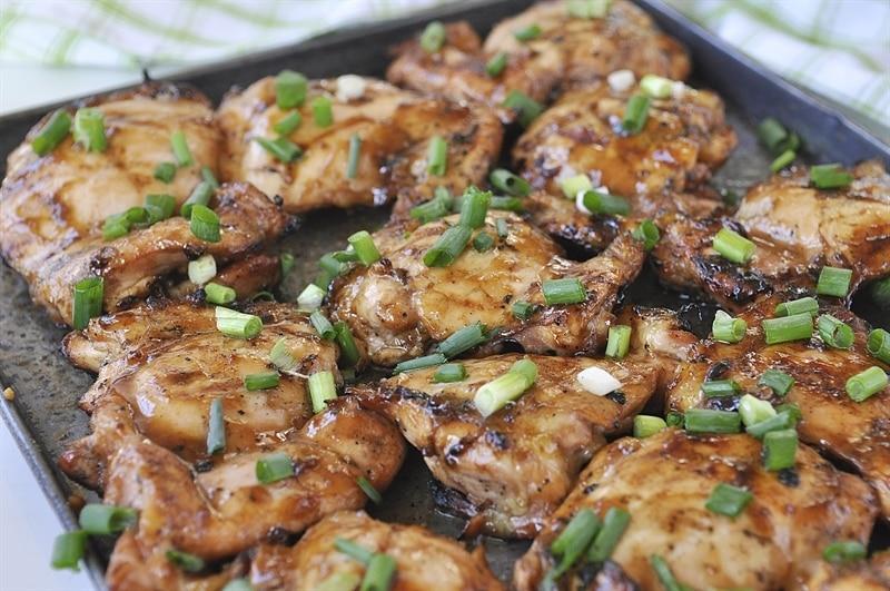 pan of Hawaiian BBQ fresh off the grill