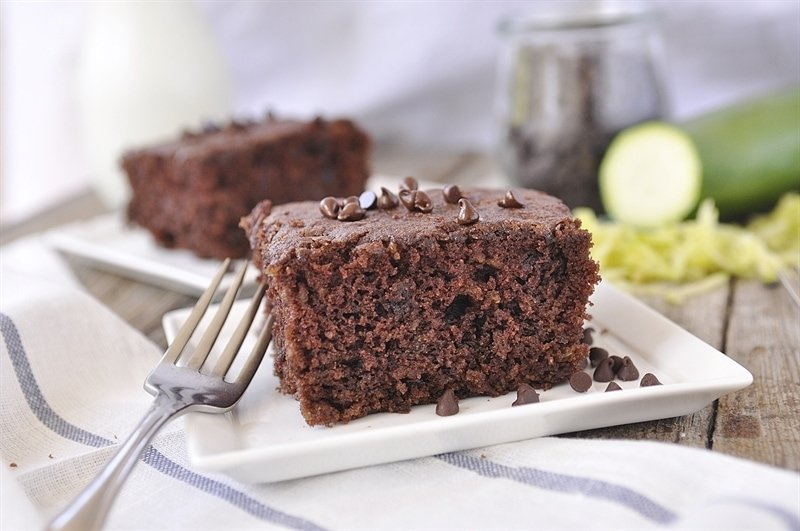Double Chocolate Zucchini Cake - nobody will even know this dessert is healthy if you don't tell them what's in it! From Your Homebased Mom via thirtyhandmadedays.com