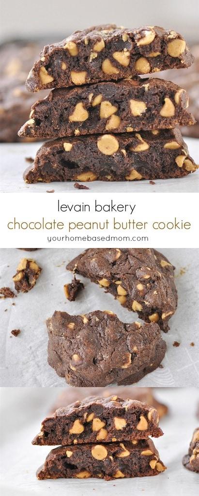 Levain Bakery Dark Chocolate Peanut Butter Chip Cookie