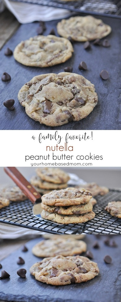 Nutella Peanut Butter Cookies - a family favorite!