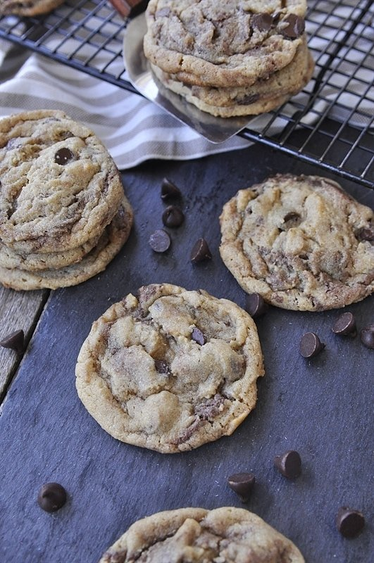 Nutella Peanut Butter Cookies - your homebased mom