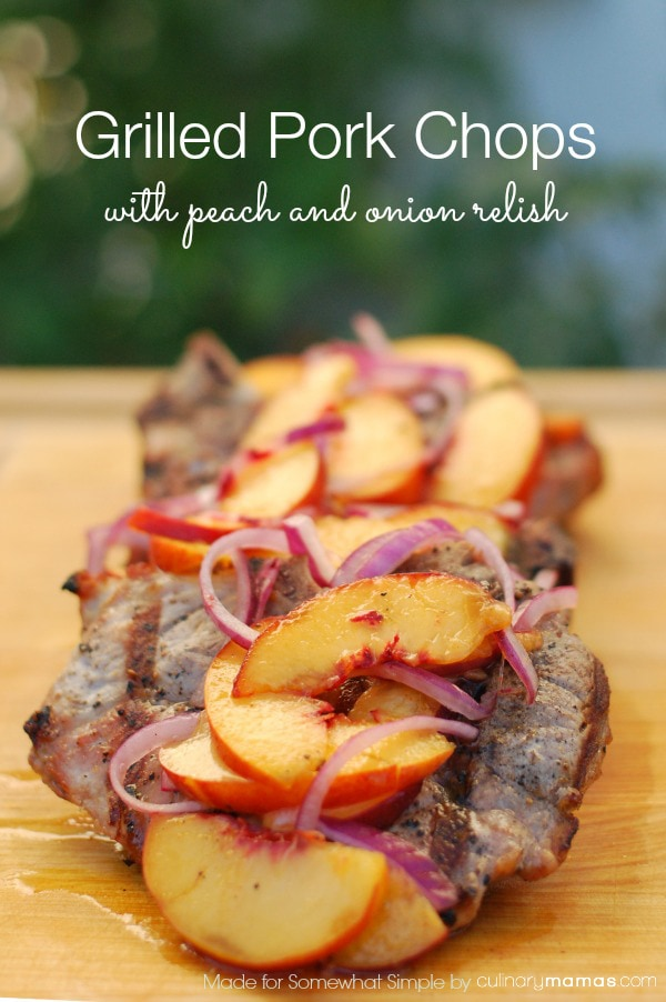 We love to grill all year round and these Pork Chops with Peach and ...