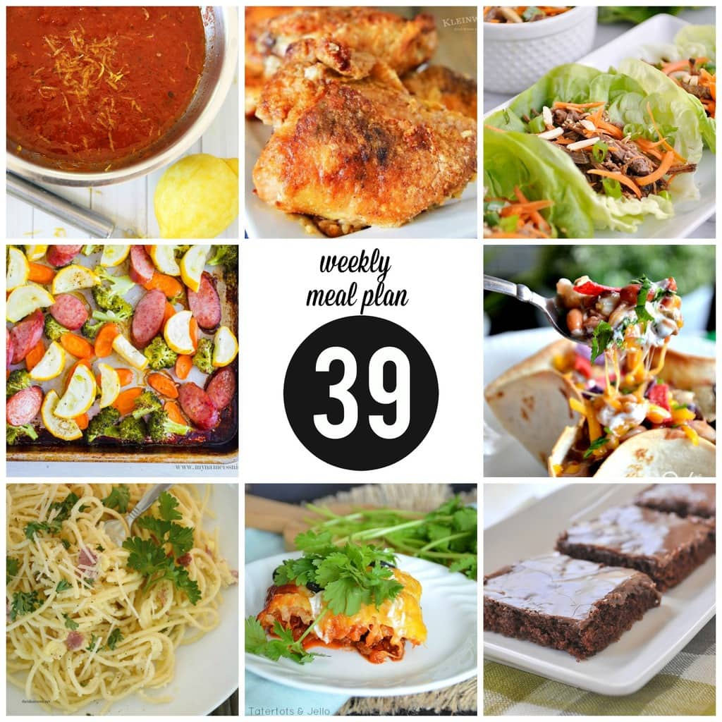 Weekly Meal Plan 39 square