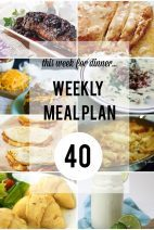 This Week for DInner}Weekly Meal Plan #40