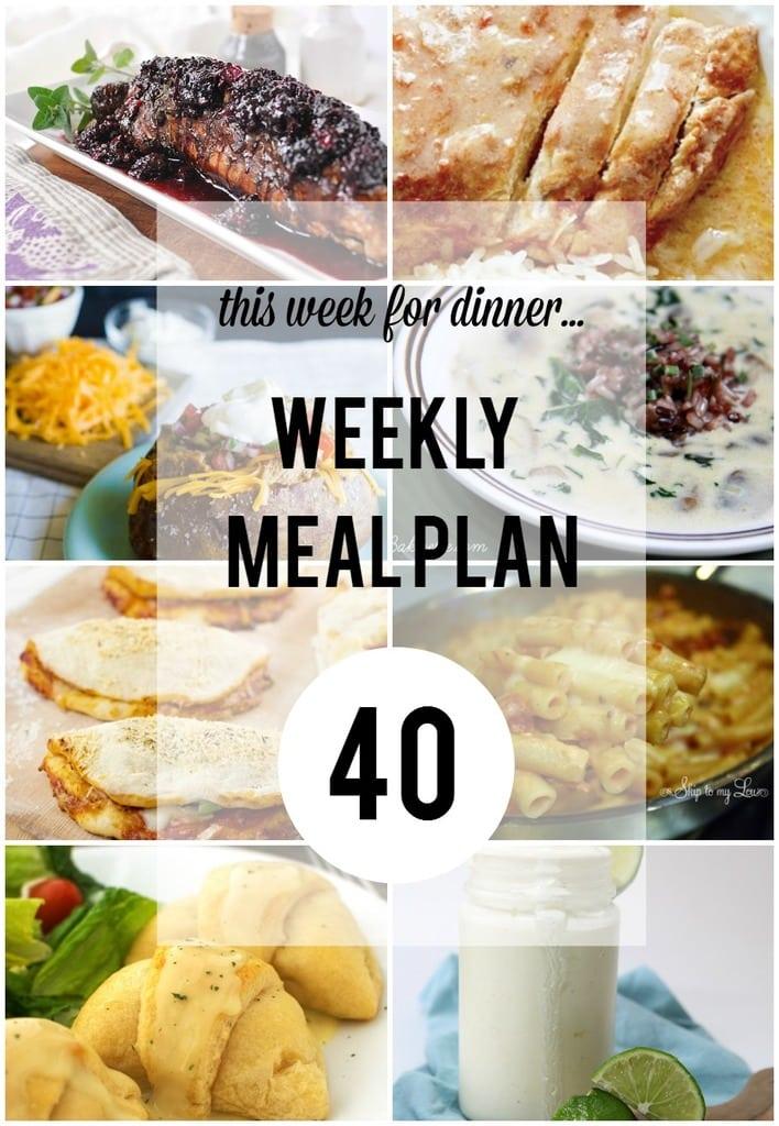 Weekly Meal Plan 40