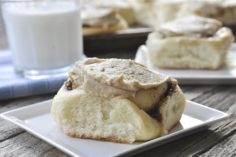 Amish Cinnamon Rolls with Caramel Frosting