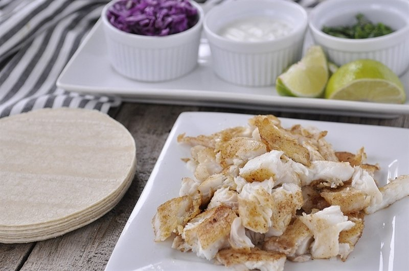 Fish Tacos with Jalapeno Lime Sauce