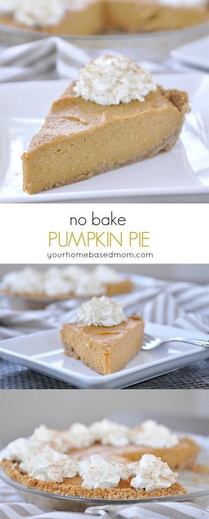 No Bake Pumpkin Pie - Thirty Handmade Days