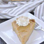 no bake pumpkin pie with whipped cream