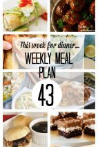 This Week for Dinner}Meal Plan 43