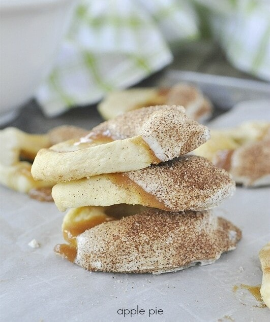 Apple Pie Caramel Apple Slices