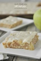 Apple Sheet Cake with Maple Glaze