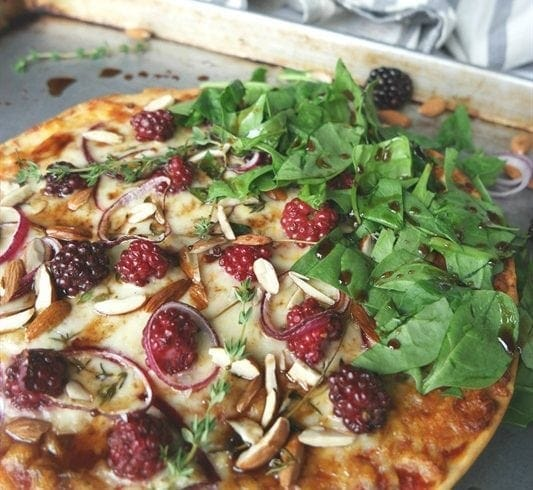 Blackberry and Balsamic Pizza