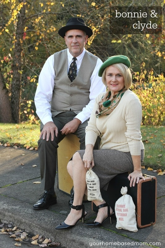 Bonnie and CLyde - a quick and easy adult costume idea