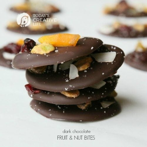 Dark Chocolate Fruit and Nut Bites