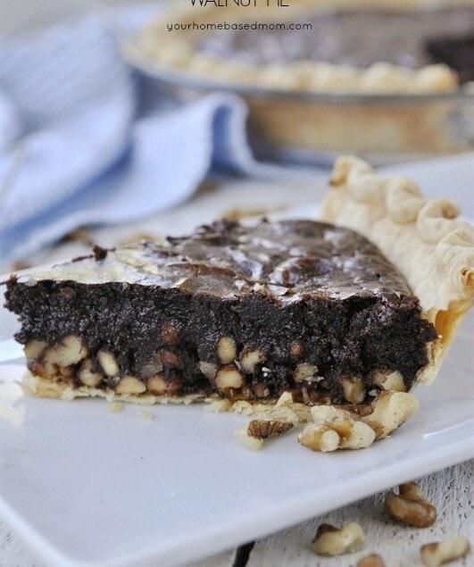 Fudgy Chocolate Walnut Pie