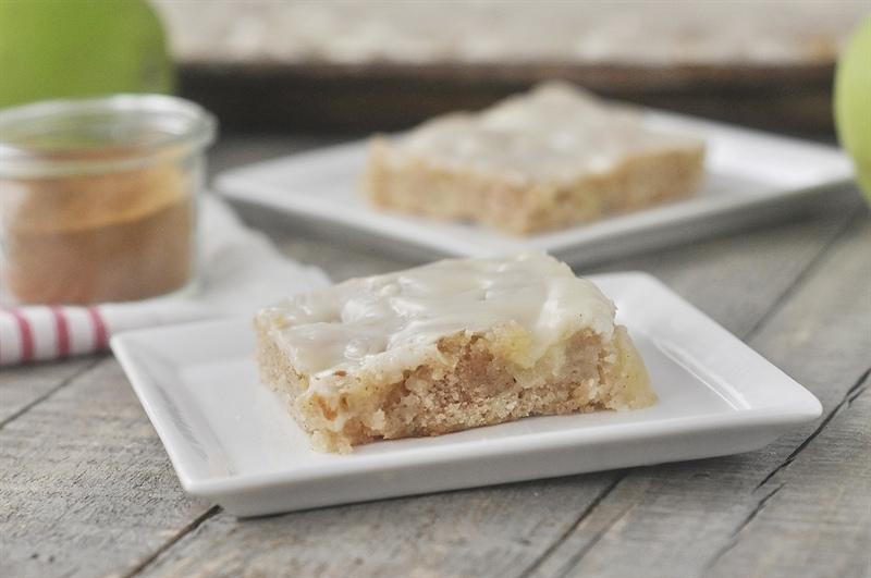 Apple Sheet Cake with Maple Glaze