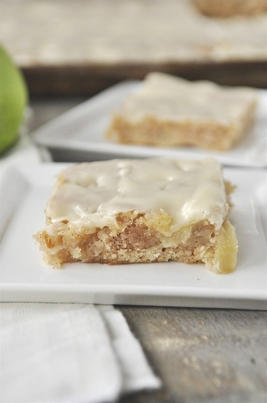 Apple Sheet Cake with Maple Frosting