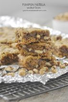 Pumpkin Nutella Walnut Bars