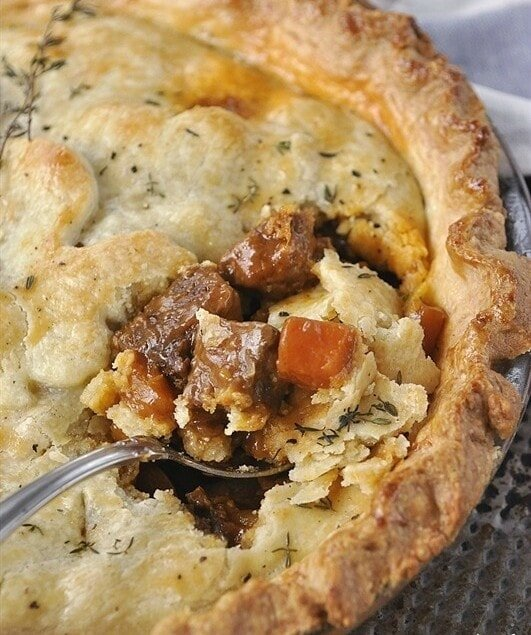 Savory Beef Pot Pie is pure comfort food at it's finest.