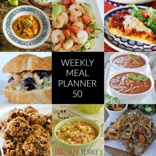 This Week for Dinner}  Meal Plan 50
