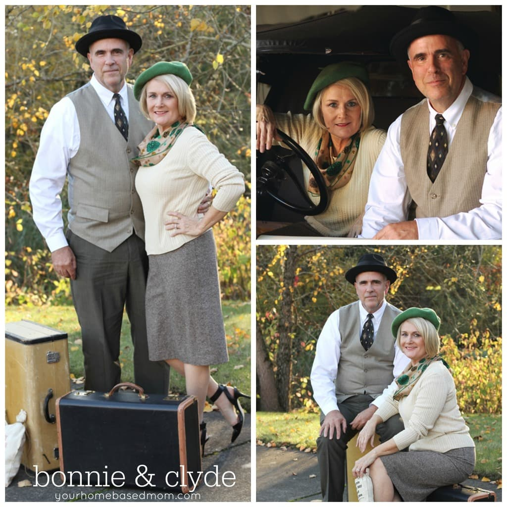 spesso Bonnie and Clyde Couples Costume MJ81