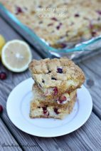 Cranberry Lemon Gooey Bars